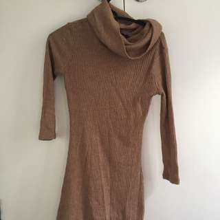 Woollen Knee Length Dress