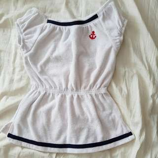 Cute Cover Up For Swimming Terry Cloth Material Dress
