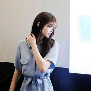 淺藍連身洋裝