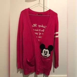 Pink Mickey Mouse Cardigan