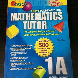 Sec One Maths Tutor