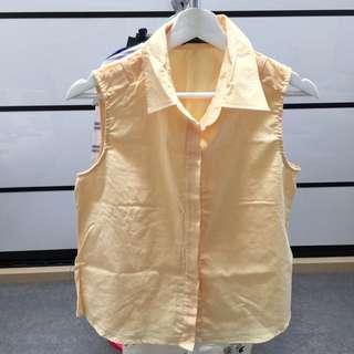Yellow Sleeveless Shirt