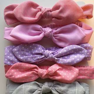 Baby Girl Headbands Elastic Knot Bow