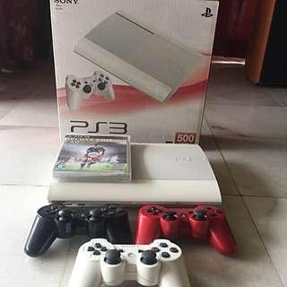 PS3 Super Slim 500GB, Classic White (Nego)
