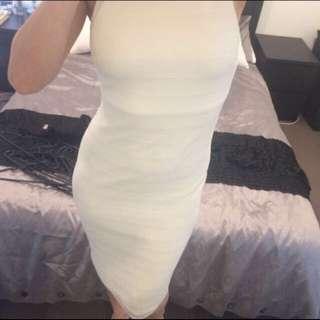 White Pencil Dress Size 10