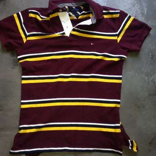Authentic Striped Tommy Hilfiger Polo