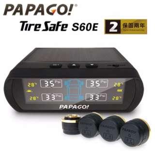 (市面最平台灣正品二年保固-附獨立機號)【PAPAGO!】TireSafe S60E 胎外式胎壓偵測器(外置版)