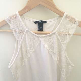 H&M White Lace Top