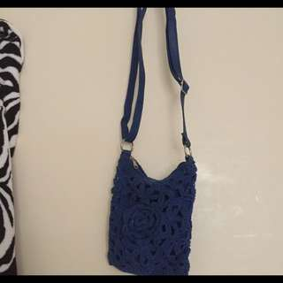 Crochet Leather Bag
