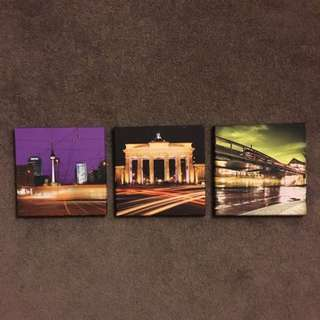 Trio Of Canvas Frames Featuring Berlin Landmarks