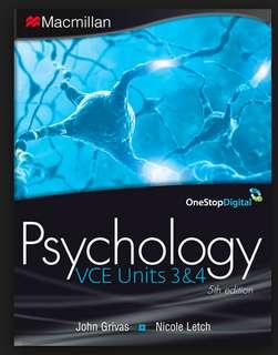psychology year 12 textbook
