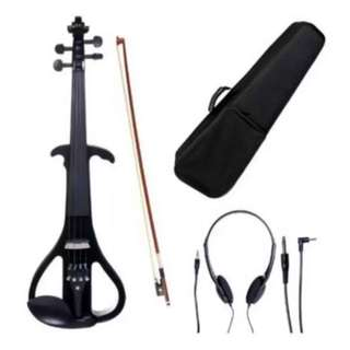 Mozart 4/4 Electric Violin (Glossy Black)