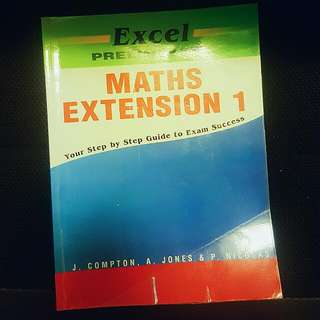 Excel PRELIM Maths Ext 1 textbook
