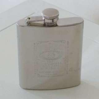 Jack Daniel's Steel Flask Whiskey Hip Liquor