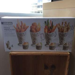 Strokes French Fry Holders With Dipping Dishes