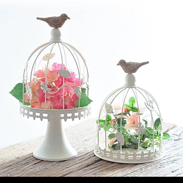 2 Bird Cage Decoration
