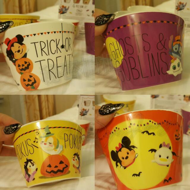 香港迪士尼 現貨出清價 迪士尼萬聖節限定  美耐皿材質杯子/碗