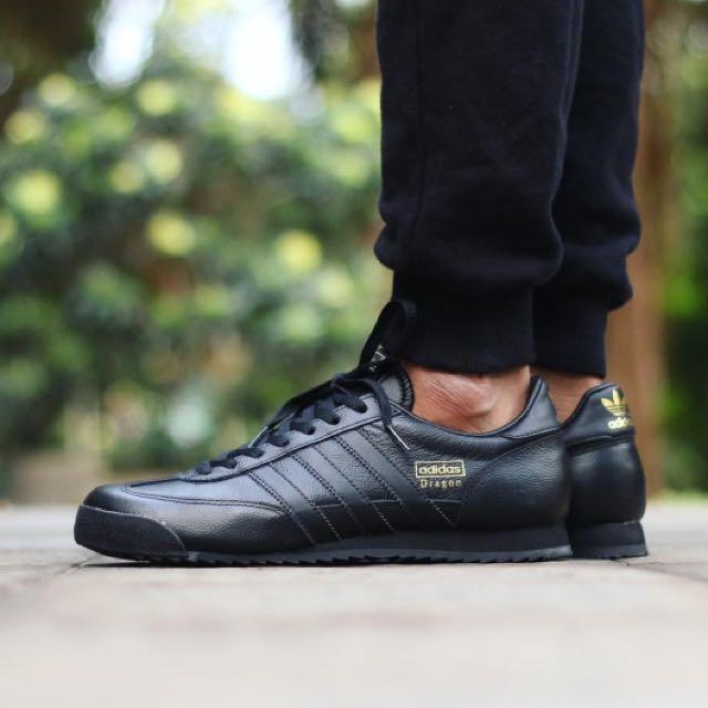 adidas dragon leather black