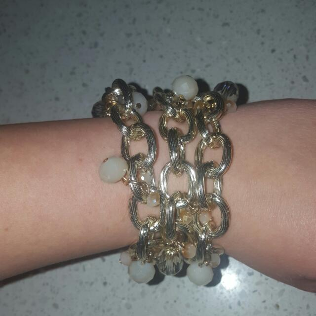 Adore 3 Strand Gold Coloured Braclet