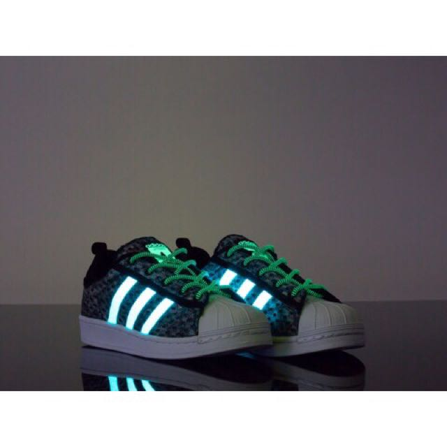 Authentic Adidas Superstar Glow In The