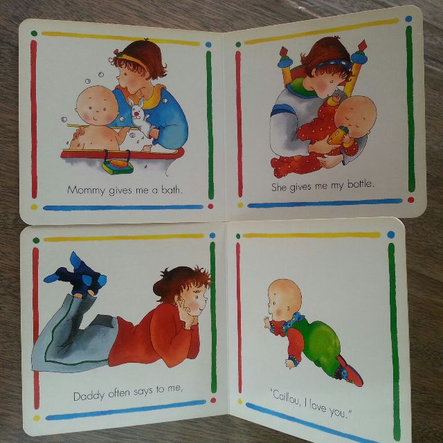 Caillou Board Books For Infants Babies Kids On Carousell
