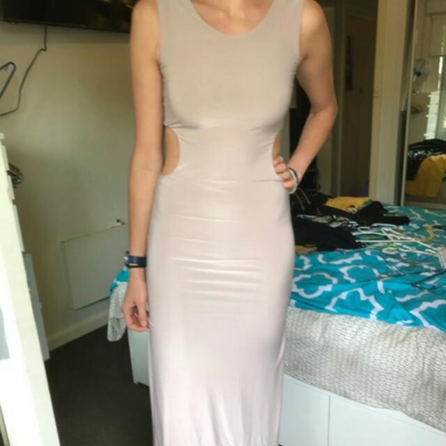 Champagne Maxi A X Dress Size 8