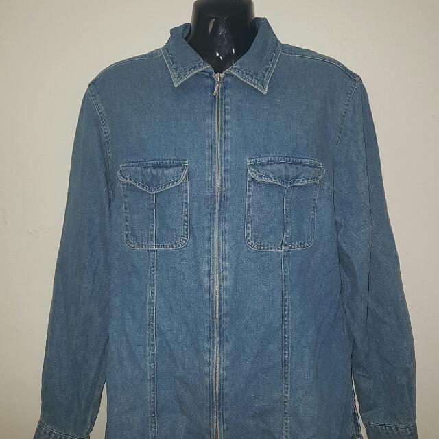 Denim Zipper Jacket