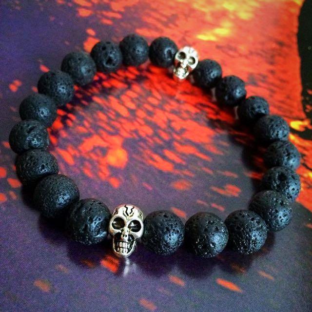Exclusive! Handmade Lava Stone Bracelet