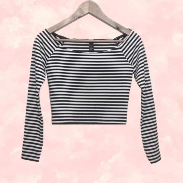 F21 Stripes Crop Top