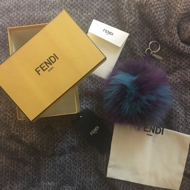 "Authentic Fendi ""M"" ABC Charm"