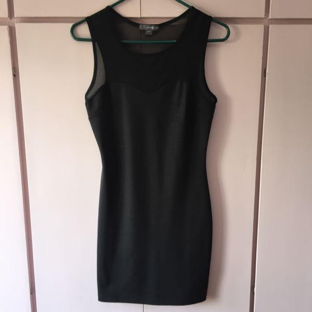Forever 21 black sweetheart bodycon dress