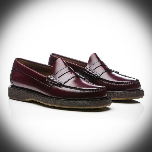 bae43197d8c G.H. Bass   Co. Weejuns Crepe Larson Penny Wine Burgundy Leather ...