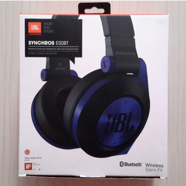 Jbl Synchros E50bt Wireless Bluetooth Wired Around Ear Headset