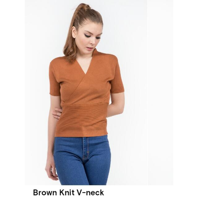 Knit V-neck