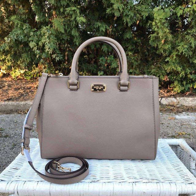 2a2996bacafc Michael Kors Kellen Medium Satchel In Dark Taupe
