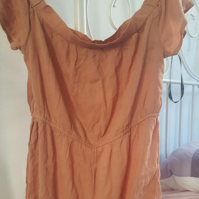 Missguided Cheesecloth Bardot Romper