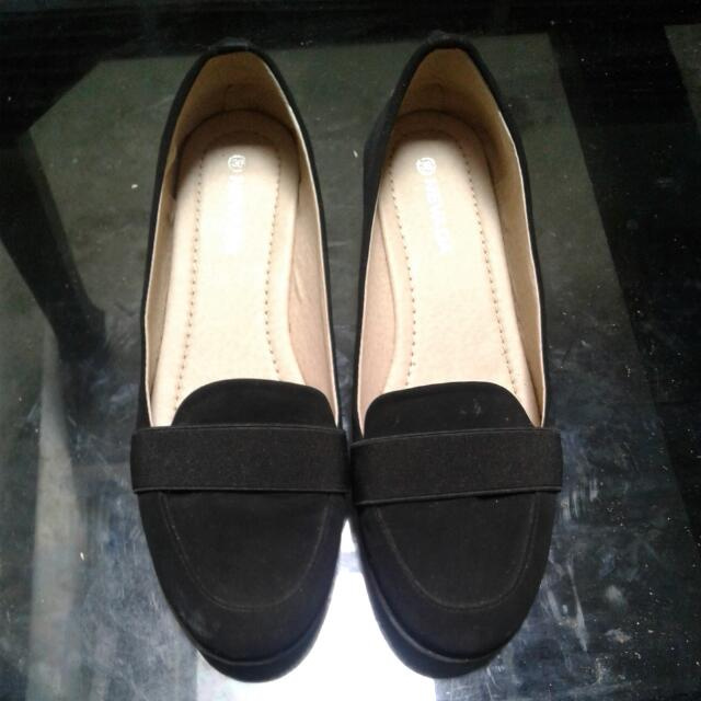 Nevada Wedges Black Shoes 38