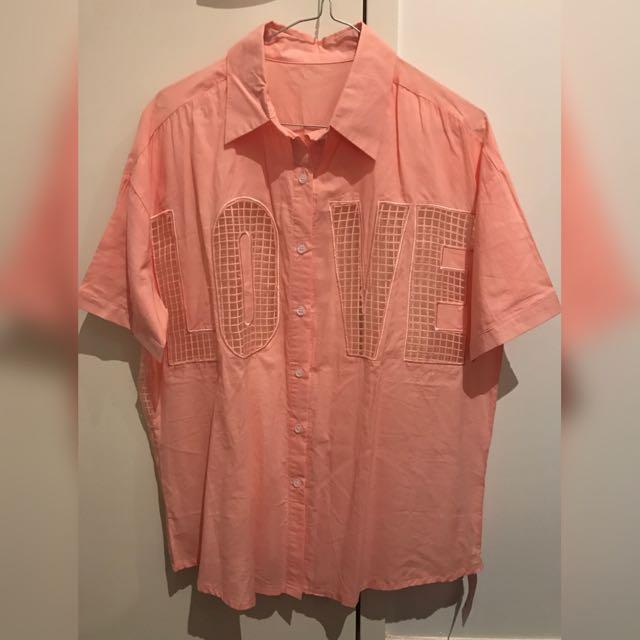 Pink See Through Shirt