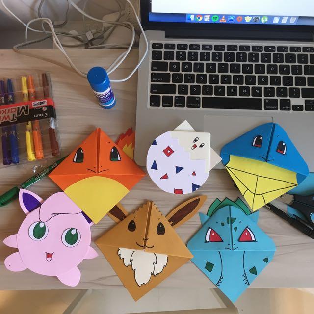 9 Pokemon Bookmark Corner Designs - Pokemon Go DIY - Red Ted Art ... | 640x640