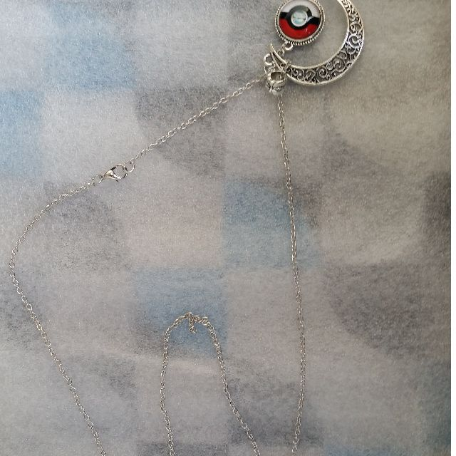Pokemon necklace Moon necklace