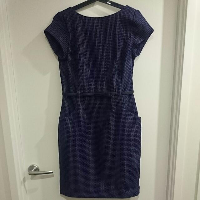 Purple midi dress