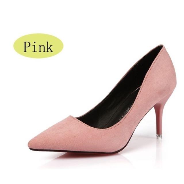 Suede Pink Stiletto
