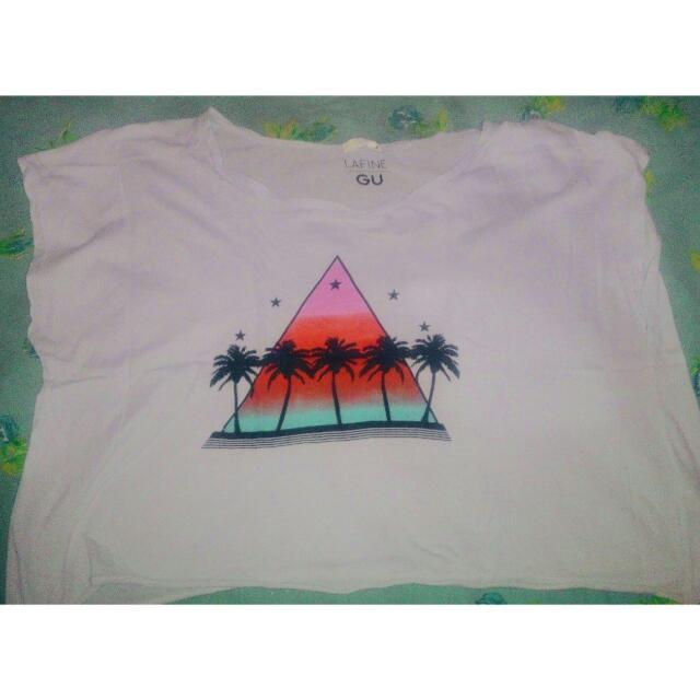 T-shirt Beach Crop