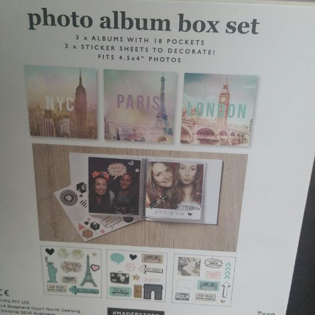 Typo Photo Album DIY Kit