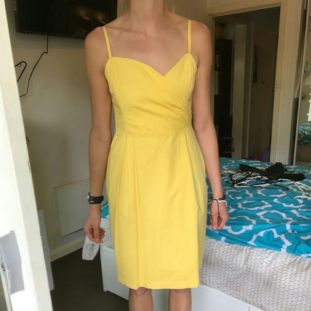 Yellow Races Dress Size 10