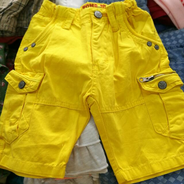 Yellow Shorts For Kids