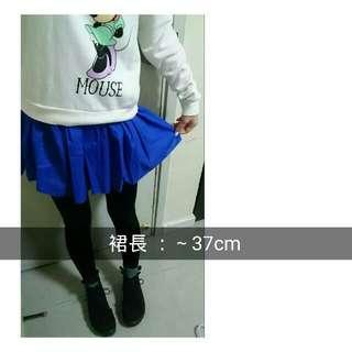 日系 原宿系 古著 寶藍色半截裙 短裙