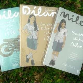 Paket 3 Buku Satu Set Dilan 1, 2 dan Milea