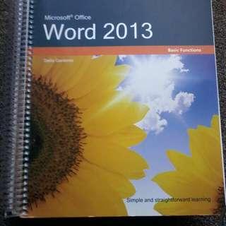 Microsoft Office Word 2013 Basic Functions by Stella Gardonio