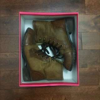 Wool-lined Combat Boots